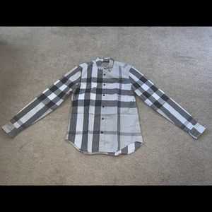 Burberry Brit Men's S Grey Nova Check Shirt